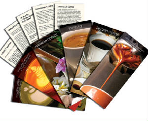 Coffee education, coffee calendars and coffee cards for coffee lovers interested in coffee lore, coffee history and coffee recipes.