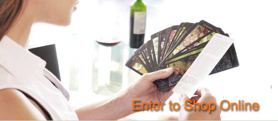 Wine cards, wine calendars, wine guides for wine tasting and wine education.